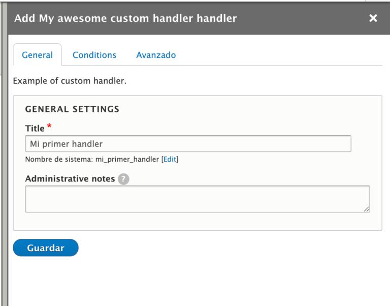 Contact-hanlder-my-first-handler